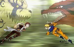 các cặp đối nghịch nhau ấn tượng nhất trong naruto Gaara_VS_Naruto