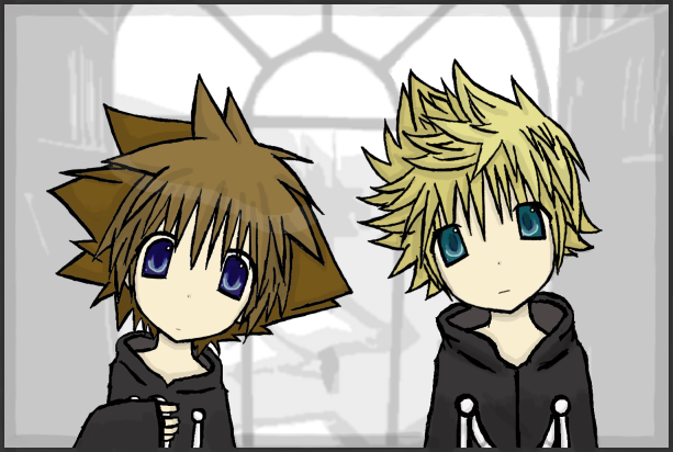 Adorable Pics - Page 2 Sora_and_Roxas_by_Mergic_and_Tor