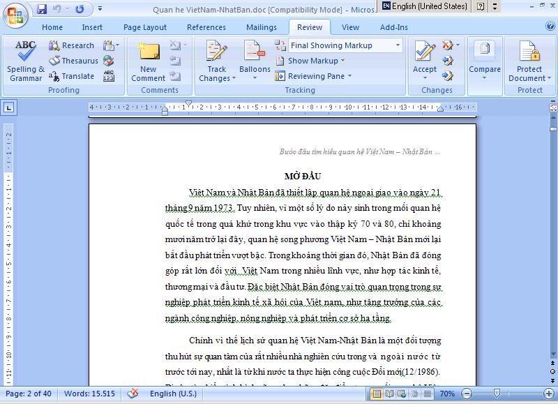 Tạo mục lục tự động trong Word 2007 1