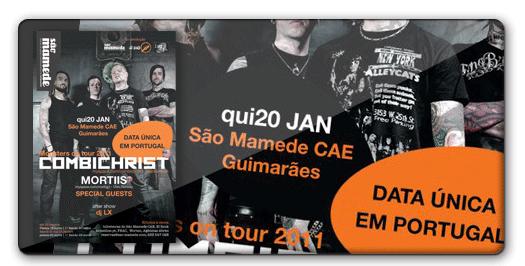 2011.20.01   COMBICHRIST + MORTIIS @ São Mamede CAE - GUIMARÃES 1