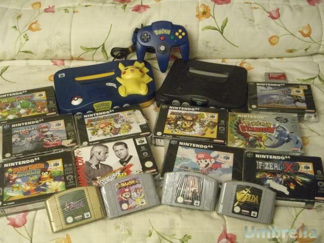 Colección de Umbrella Nintendo64Nintendo64Picachu