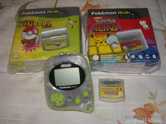 Colección de Umbrella Pokemonmini