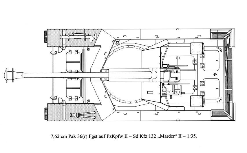 Erik's Build - 7,62 PaK 36 (r) (Sd.Kfz. 132)- Marder II D MarderIID_TD_top