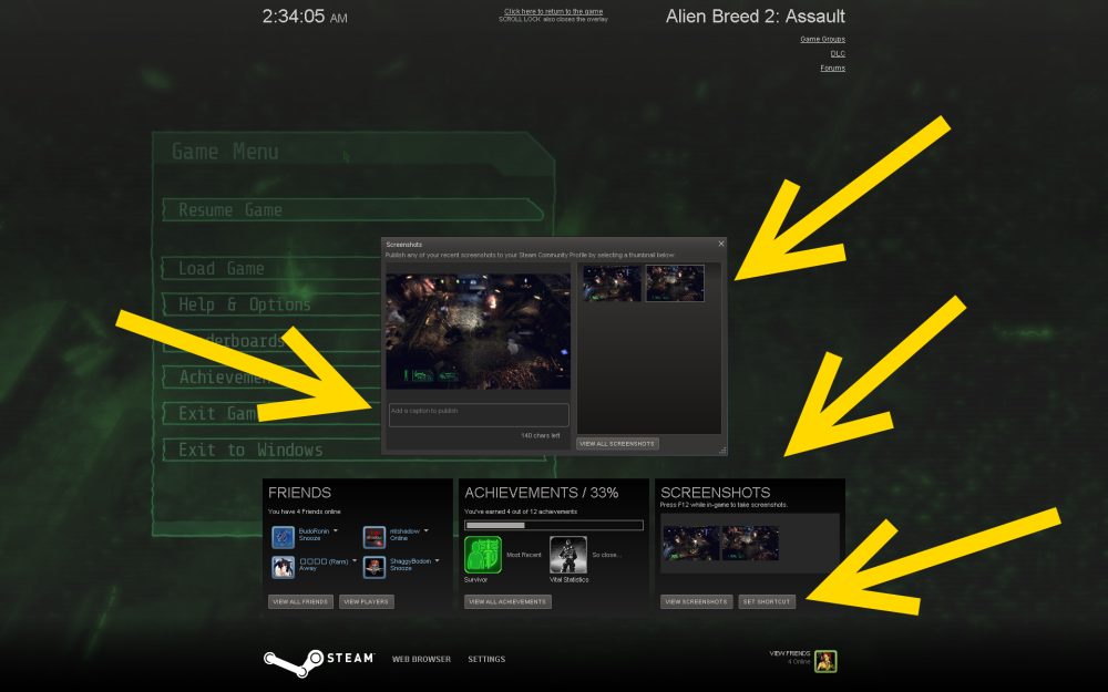 Steam now takes & hosts Screenshots!!! AwesomeSteamBeta