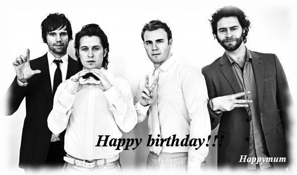 1er anniversaire du site take-that.fr!!! Lovehappybirthday