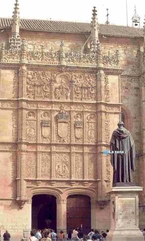 Leyenda. La rana de la Universidad de Salamanca Fachada