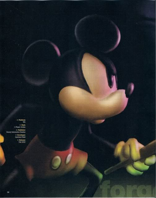 Epic Mickey (Warren Spector Game - Announced for Wii) Scan1