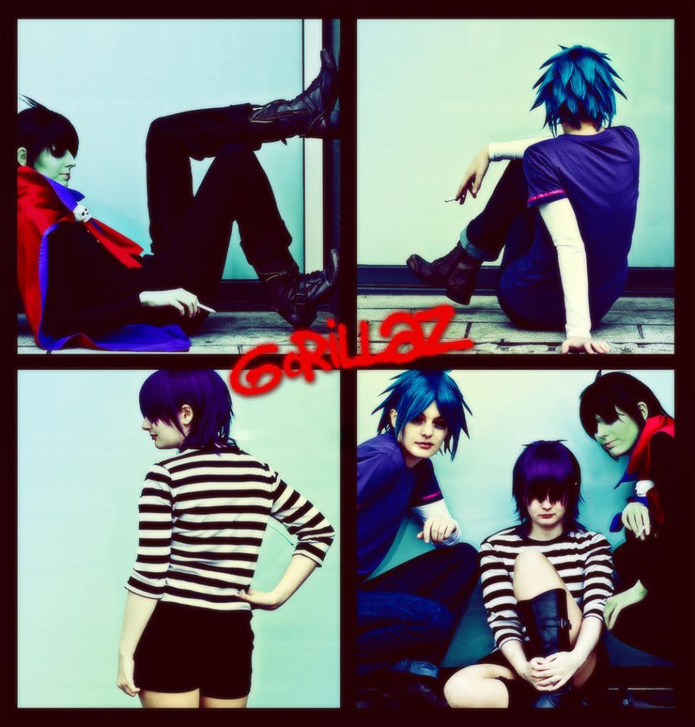 *Cosplay*de GorillaZ Gorillaz_by_RavenBlakh