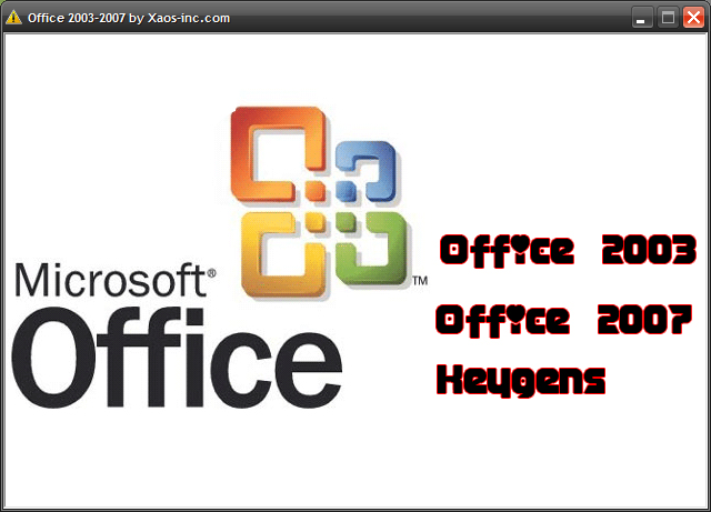 Office 2003-2007 all in one!!! Office