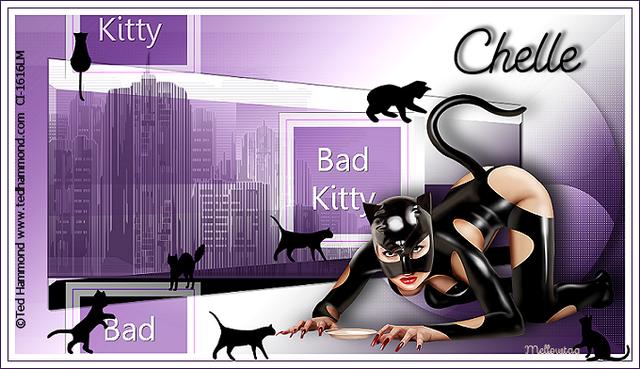 Non scrap Tut challenge...Bad Kitty BadKittyKittenChelle
