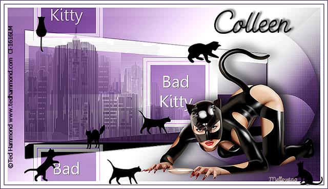 Non scrap Tut challenge...Bad Kitty BadKittyKittenColleen