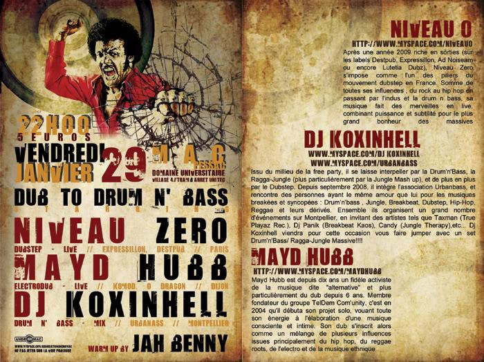 DUB to DRUM 'N BASS (Pessac-33) Promo29-01-10