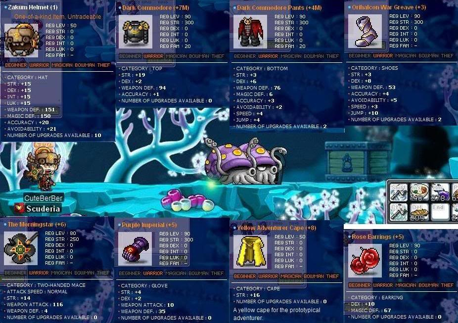 SS of your Godly/Semi-Godly Equipments! CuteBerBerSotong