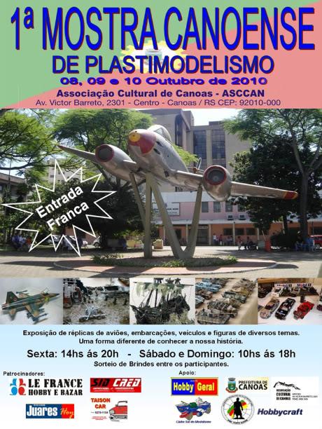 1a Mostra Canoense de Plastimodelismo Cartazevento