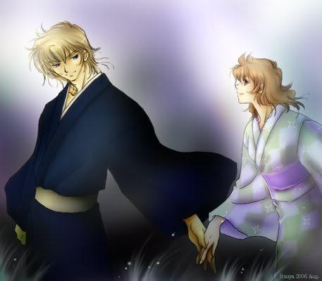 Parejas no yaoi Kimonos