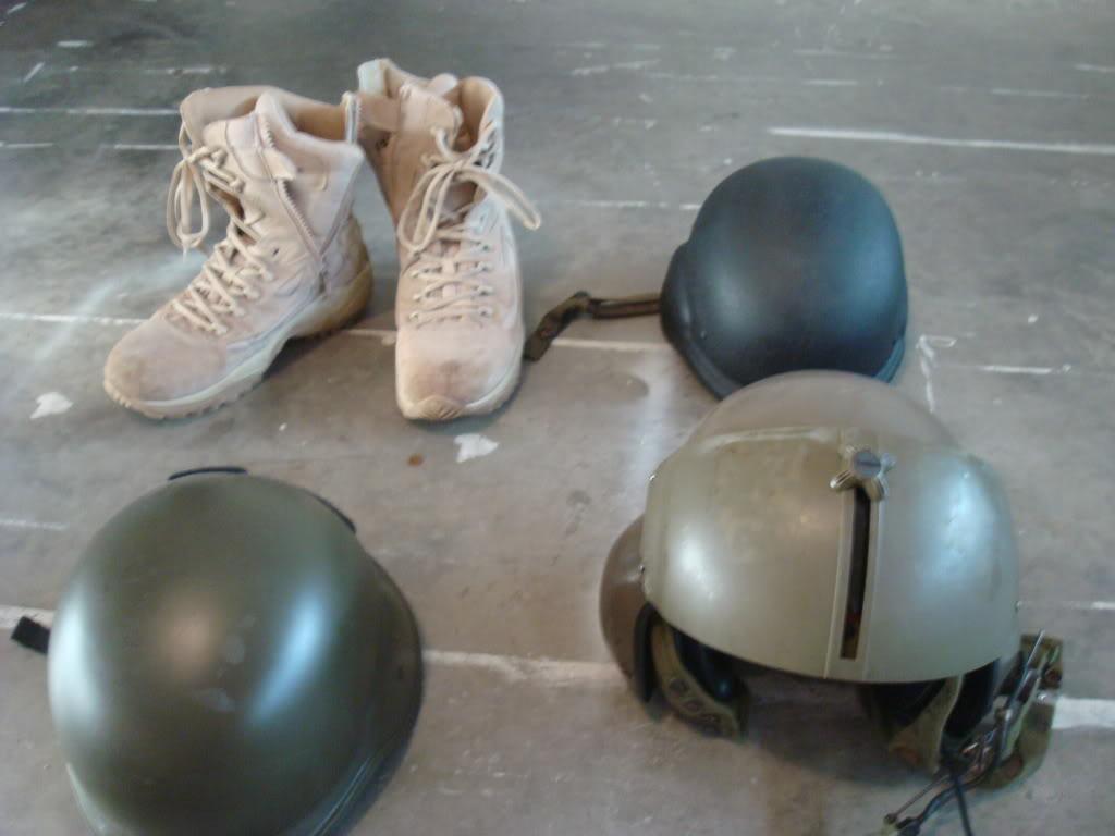 helmets and condor boots