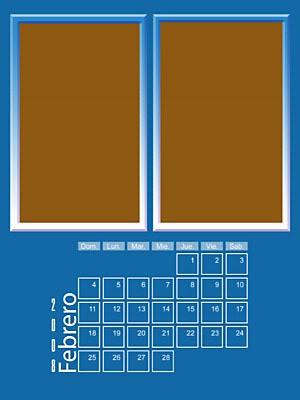 Calendario 2008 de 12 meses individuales 02-Febrero