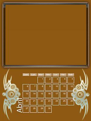 Calendario 2008 de 12 meses individuales 04-Abril