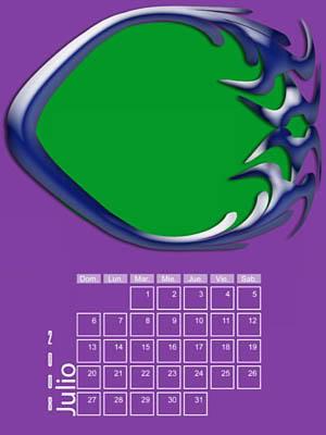 Calendario 2008 de 12 meses individuales 07-Julio2008