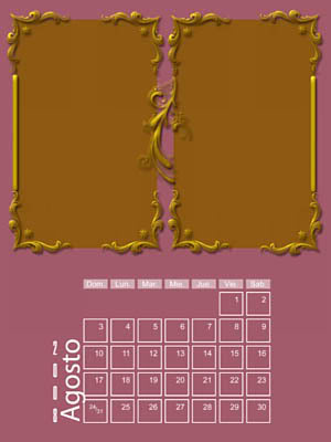 Calendario 2008 de 12 meses individuales 08-Agosto2008