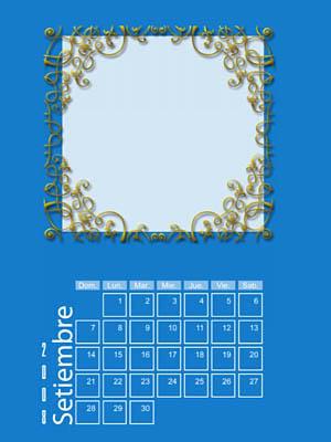 Calendario 2008 de 12 meses individuales 09-Setiembre2008