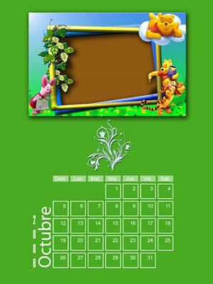 Calendario 2008 de 12 meses individuales 10-Octubre2008