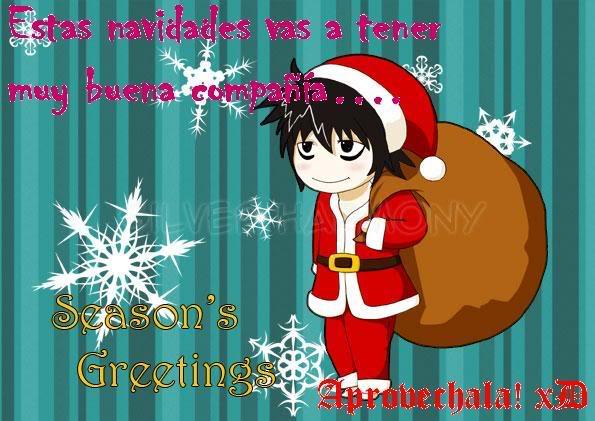 Felicitaciones De Navidad Anime.Postales Navidenas De Anime