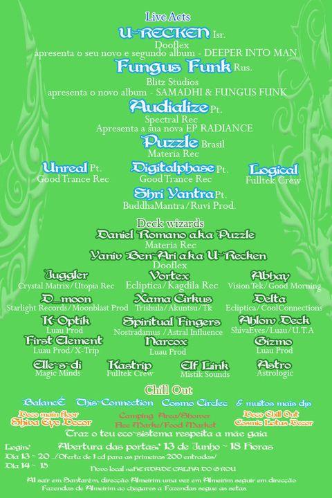 Luau Party: Psycadelik Goa Trance / 13 e 14 june Portugual Luautrazcopy