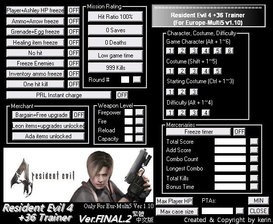 Resident Evil 4 Pc 36 Trainer Eur