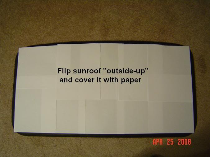 How to : S13 240sx Factory OEM Sunroof Shade (FB 89-94) Sunroofsunshade011