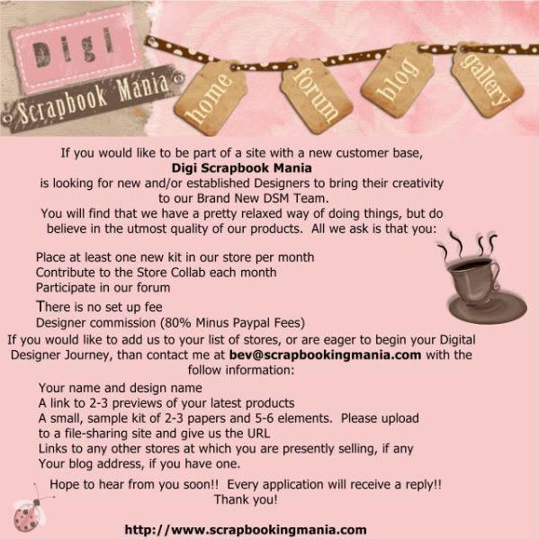 DT Call at Digi Scrapbook Mania DesignCall