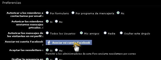 GUIA - Cómo vincular mi cuenta de Facebook con mi cuenta del foro Tuto2