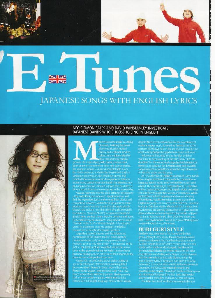 UK magazine featured Buriguri. NEOTBGArticle_0001