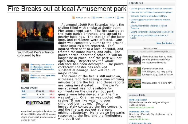 South-Point Pier Amusement Park Newsartical