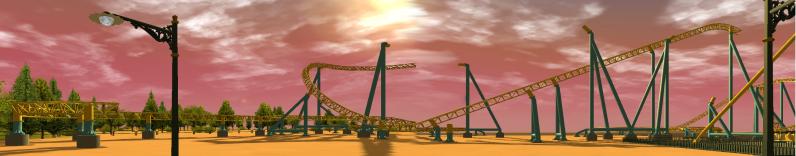 South-Point Pier Amusement Park Pano-1