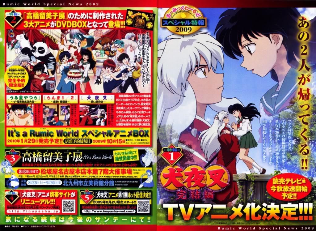 Inuyasha - Kanketsu Hen, Inuyasha ya tendra denuevo su anime! Kanketsuhen-announce