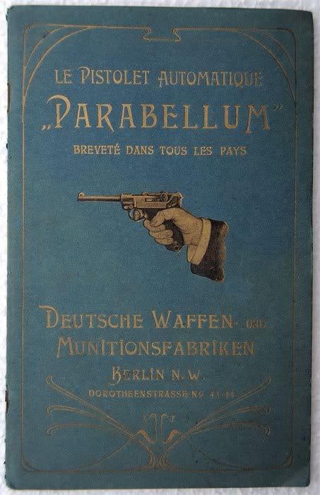 """Notice non réglementaire luger """"français"""" 1900 Parabellumfranais"""