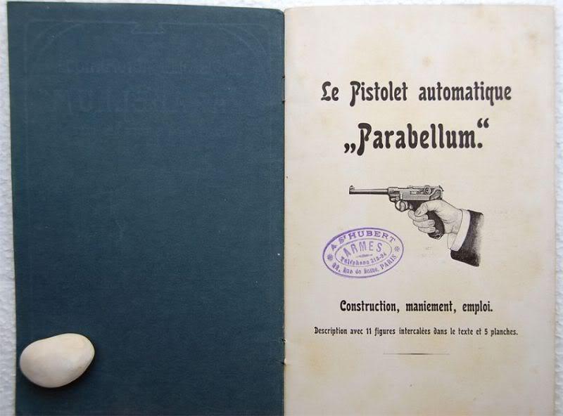 """Notice non réglementaire luger """"français"""" 1900 Parabellumfranais2"""