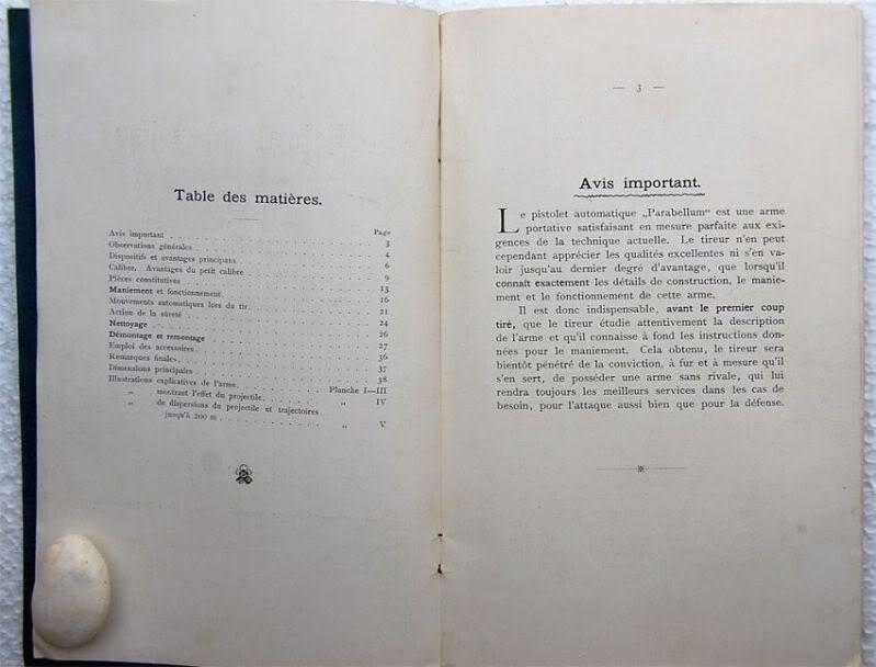 """Notice non réglementaire luger """"français"""" 1900 Parabellumfranais3"""