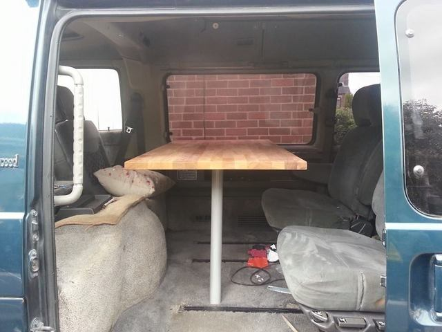 Mitsubishi L300 Delica start of kitchen fit out 11165275_1620572688158729_5115887648136699598_n_zpscsxp12yt