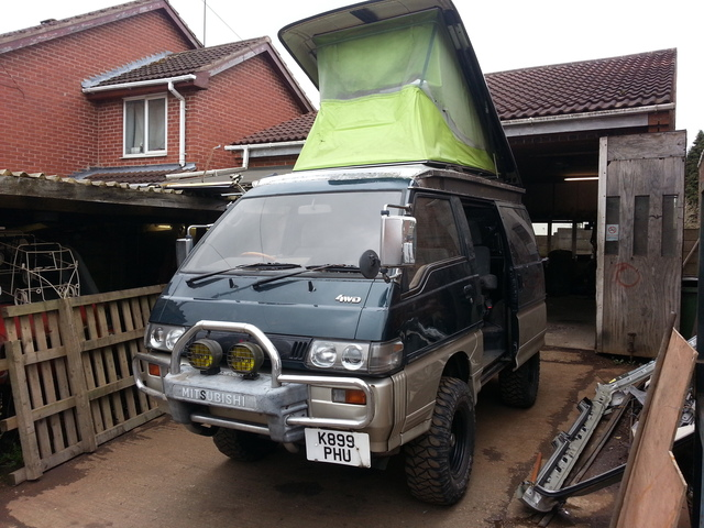 Mitsubishi L300 Delica start of kitchen fit out 20150404_120119_zpsvvcpl0bp