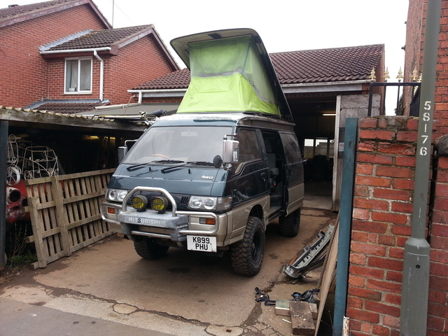 Mitsubishi L300 Delica start of kitchen fit out 20150404_120126_zpsiujcucdn