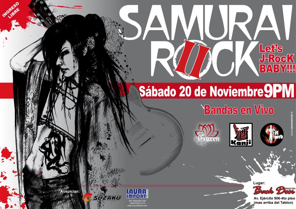 SAMURAI ROCK II-Let's J-RocK BABY!!!  Sabado 20 de NOVIEMBRE SAMURAIROCKII-LetsJ-RocKBABYP