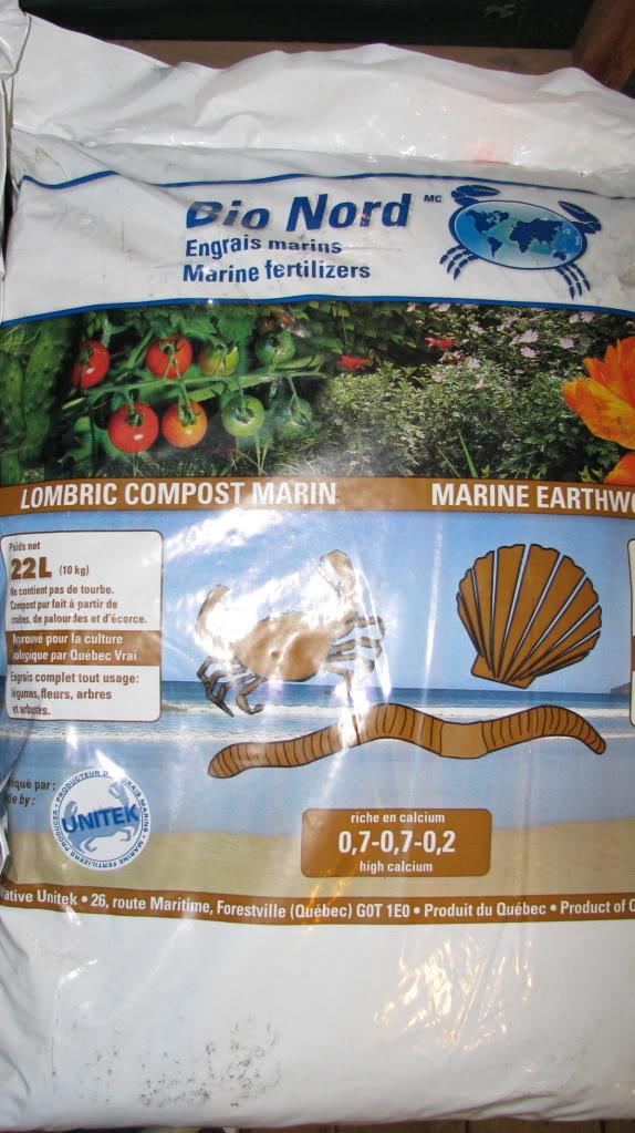 Vermicompost et farine de crabe des neiges 005-24