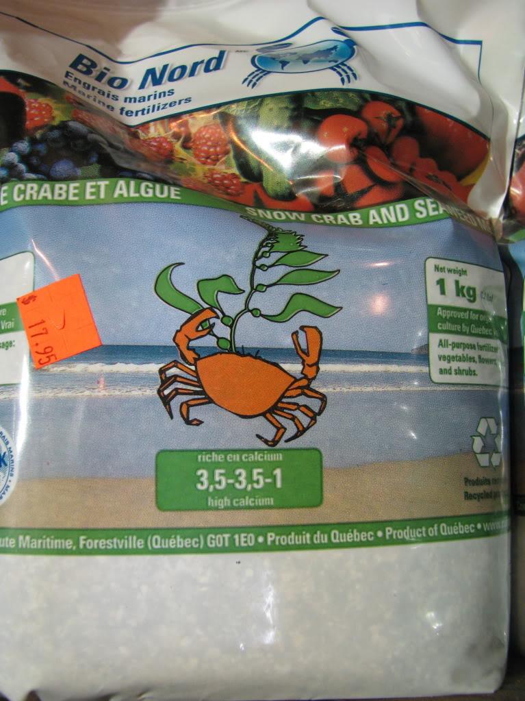 Vermicompost et farine de crabe des neiges 008-20