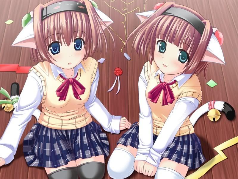صــــــــــــــــور انمي توأمــ Neko_twins