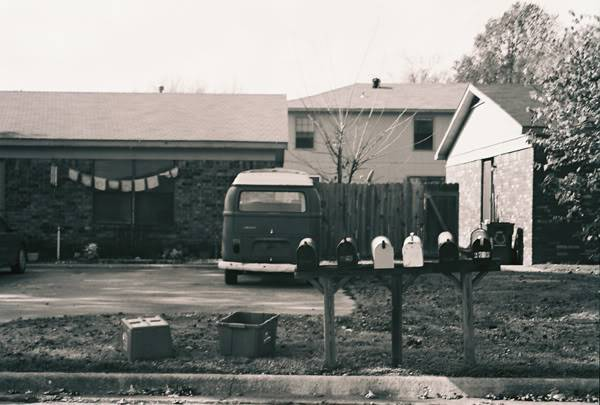 Black and White Russellville/Fayetteville series. (Image hea Bus