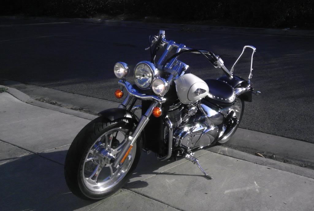 """Just installed 8"""" risers...enjoy! .... 2003 Suzuki Volusia Ltd Edition IMAG3074"""
