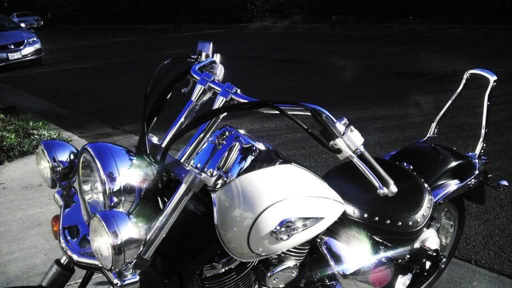 """Just installed 8"""" risers...enjoy! .... 2003 Suzuki Volusia Ltd Edition IMAG3085"""