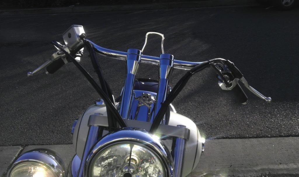 """Just installed 8"""" risers...enjoy! .... 2003 Suzuki Volusia Ltd Edition IMAG3086"""